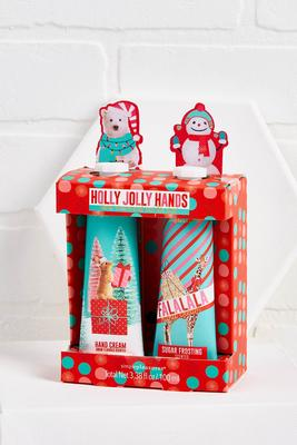holly jolly hand cream set
