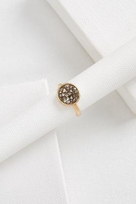 druzy pendant ring
