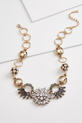 deco vintage bling bib necklace