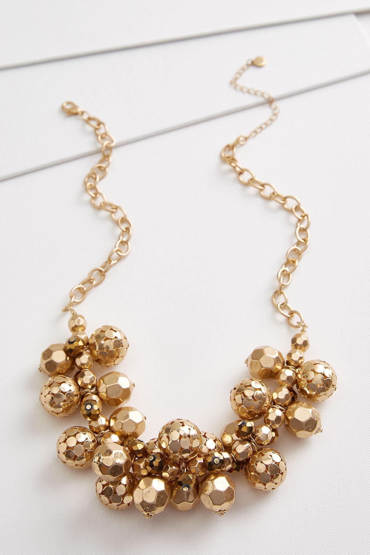 Dot Fringe Bib Necklace