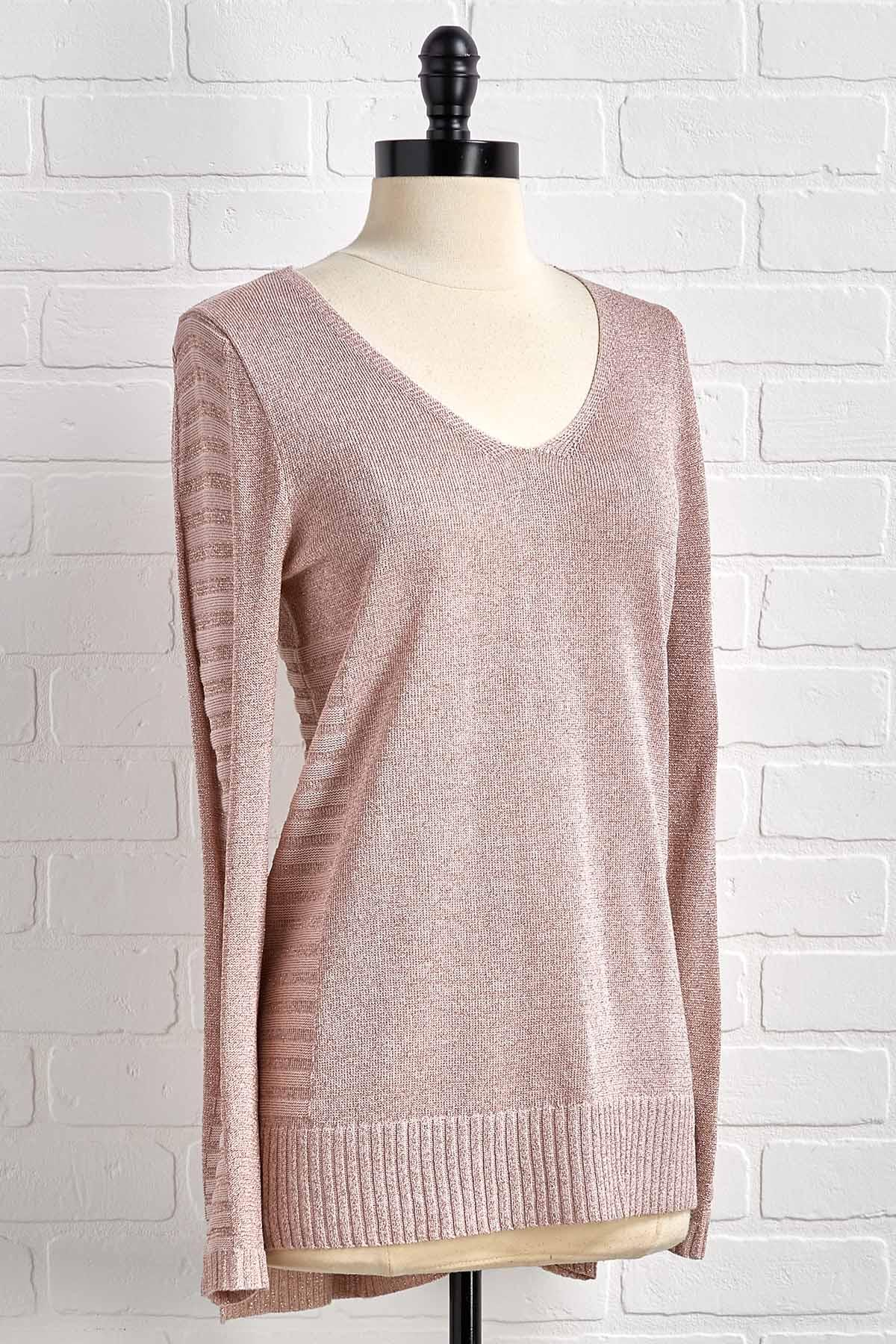Shimmery In Pink Sweater