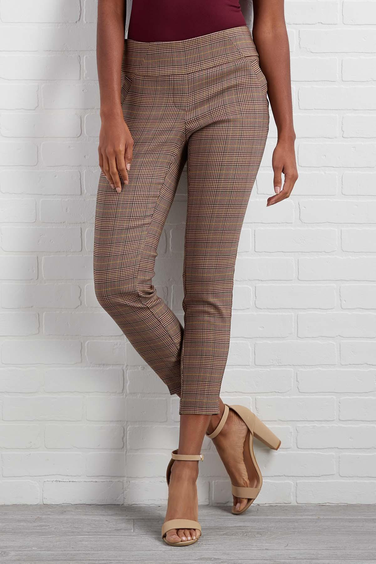 Autumn Afternoon Plaid Pants