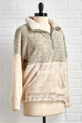 snuggle bug sherpa pullover