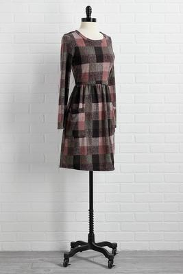 pockets and plaid dress
