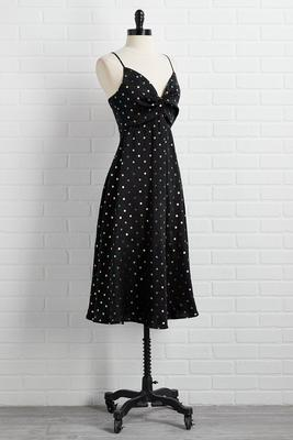on the dot slip dress