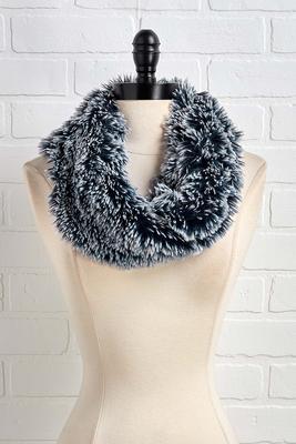 navy shaggy cowl scarf