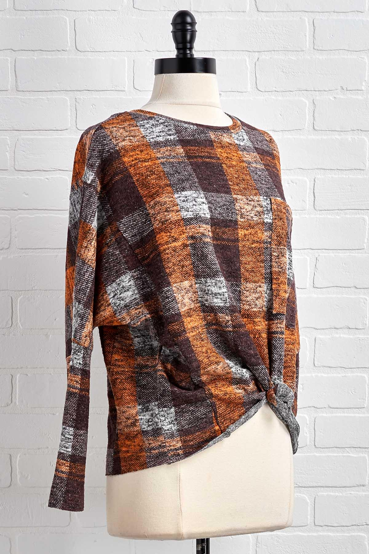Plaid Hatter Top