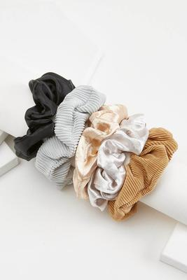 metallic scrunchie set