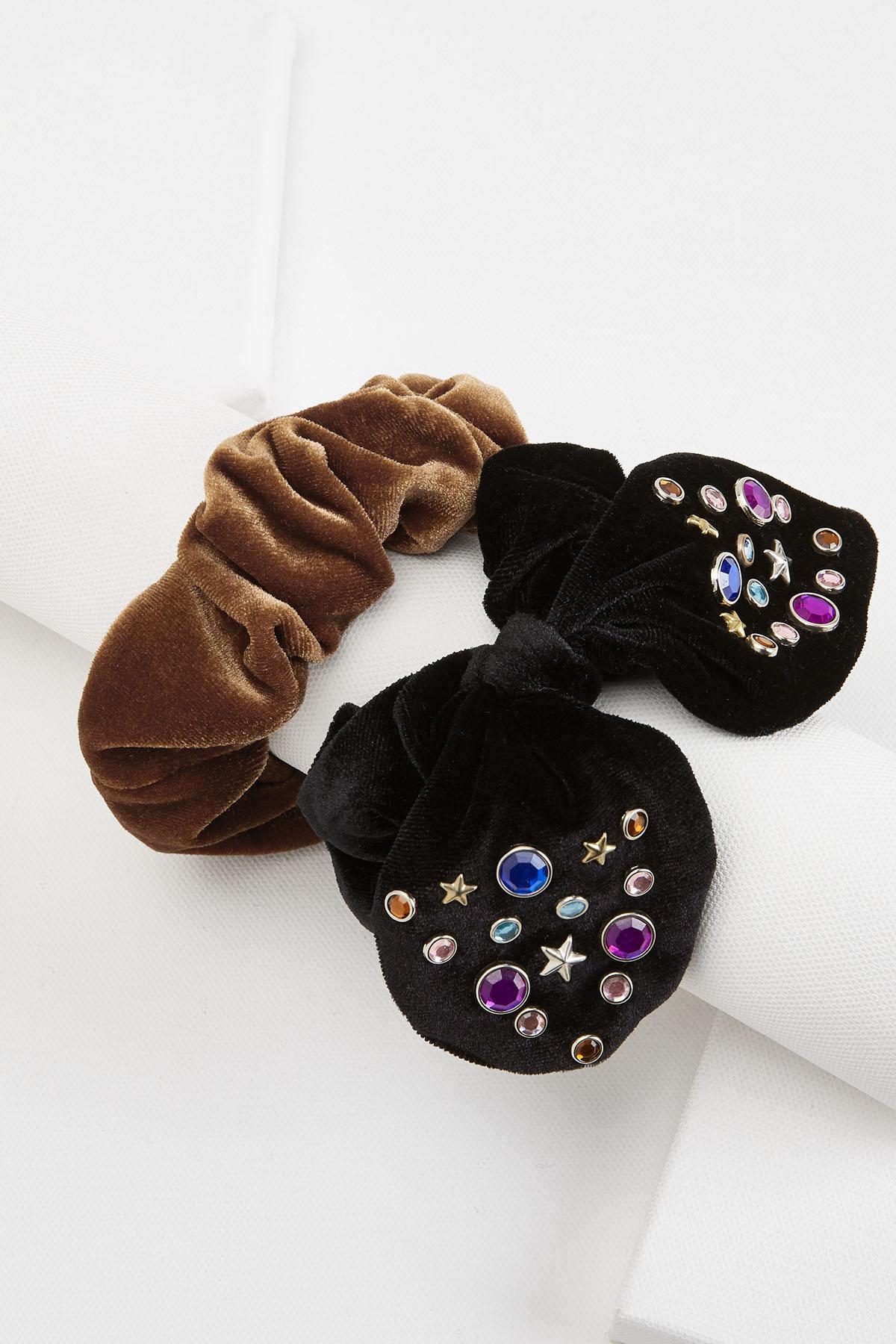 Embellished Bow Scrunchie