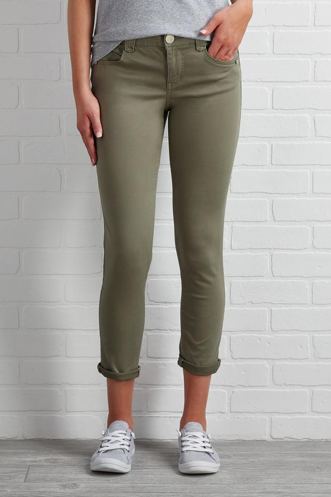 Structured Solid Pants