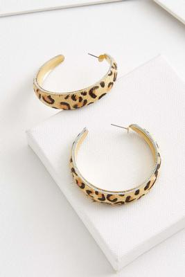 animal hair hoop earrings