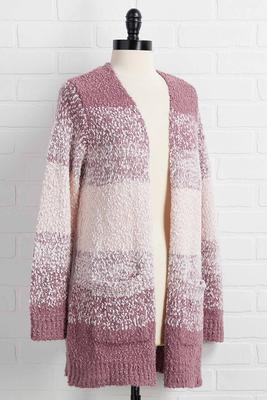 lilac lash cardigan