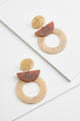 lucite geo earrings
