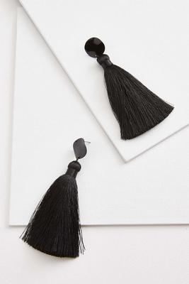 dramatic tassel earrings