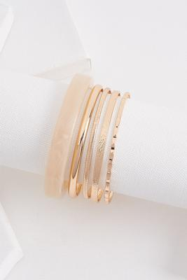 lucite and metal bangle set