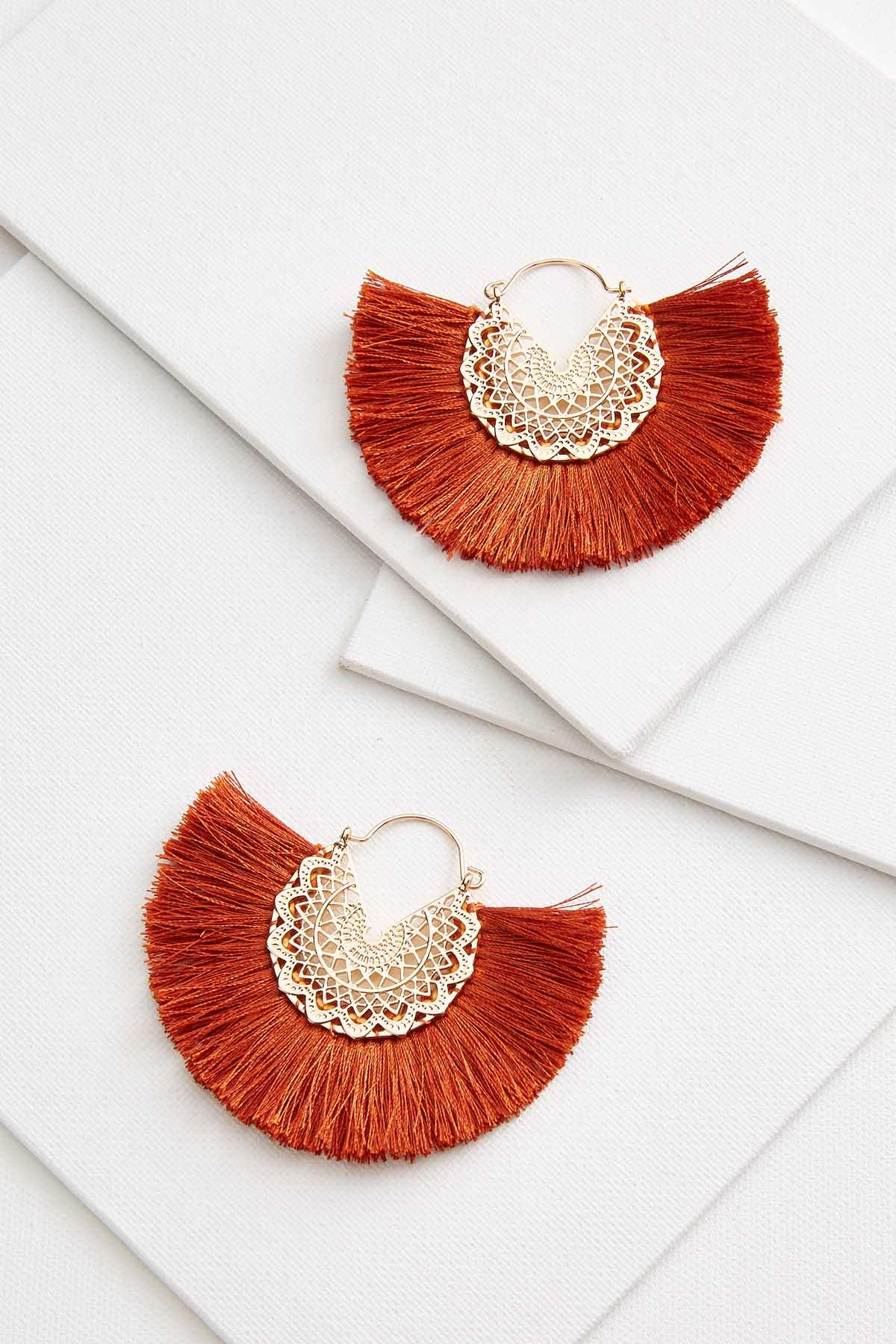 Medallion Fringe Earrings