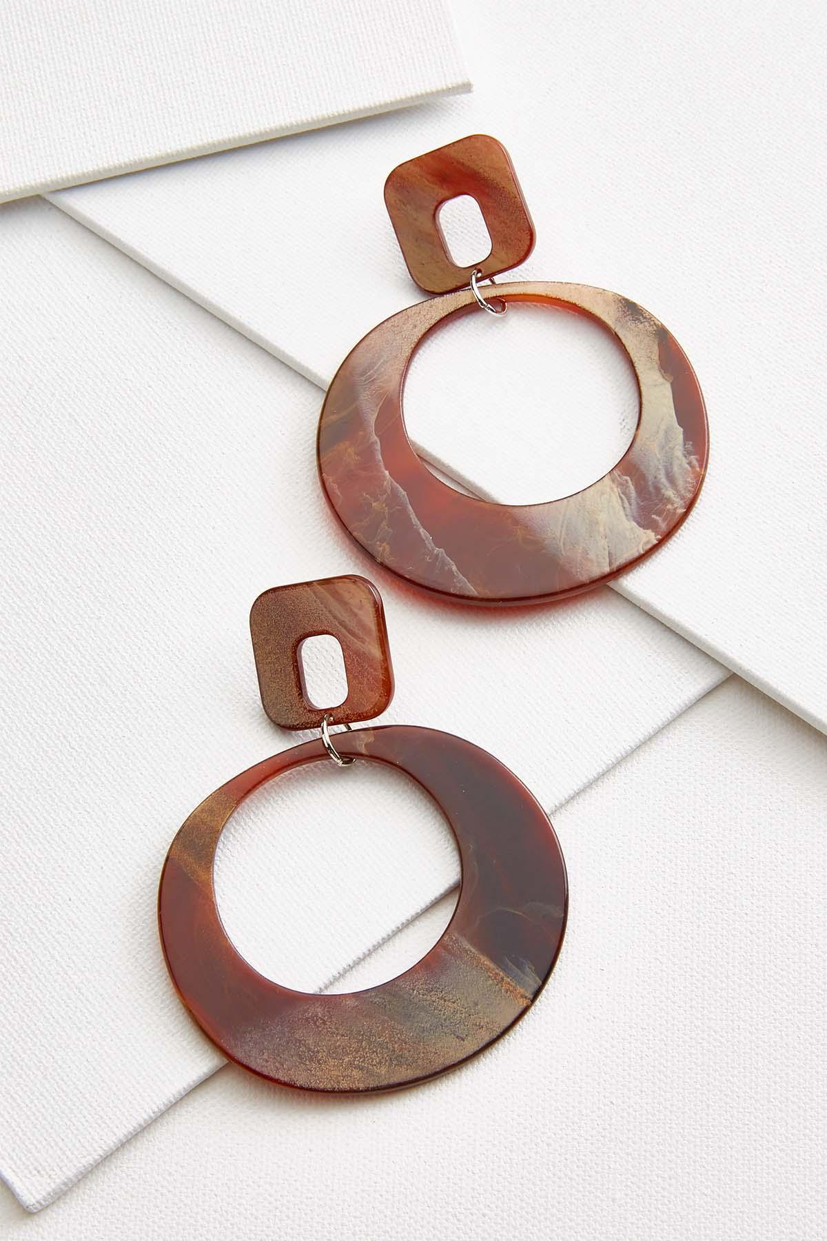 Geometric Lucite Earrings