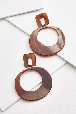 geometric lucite earrings