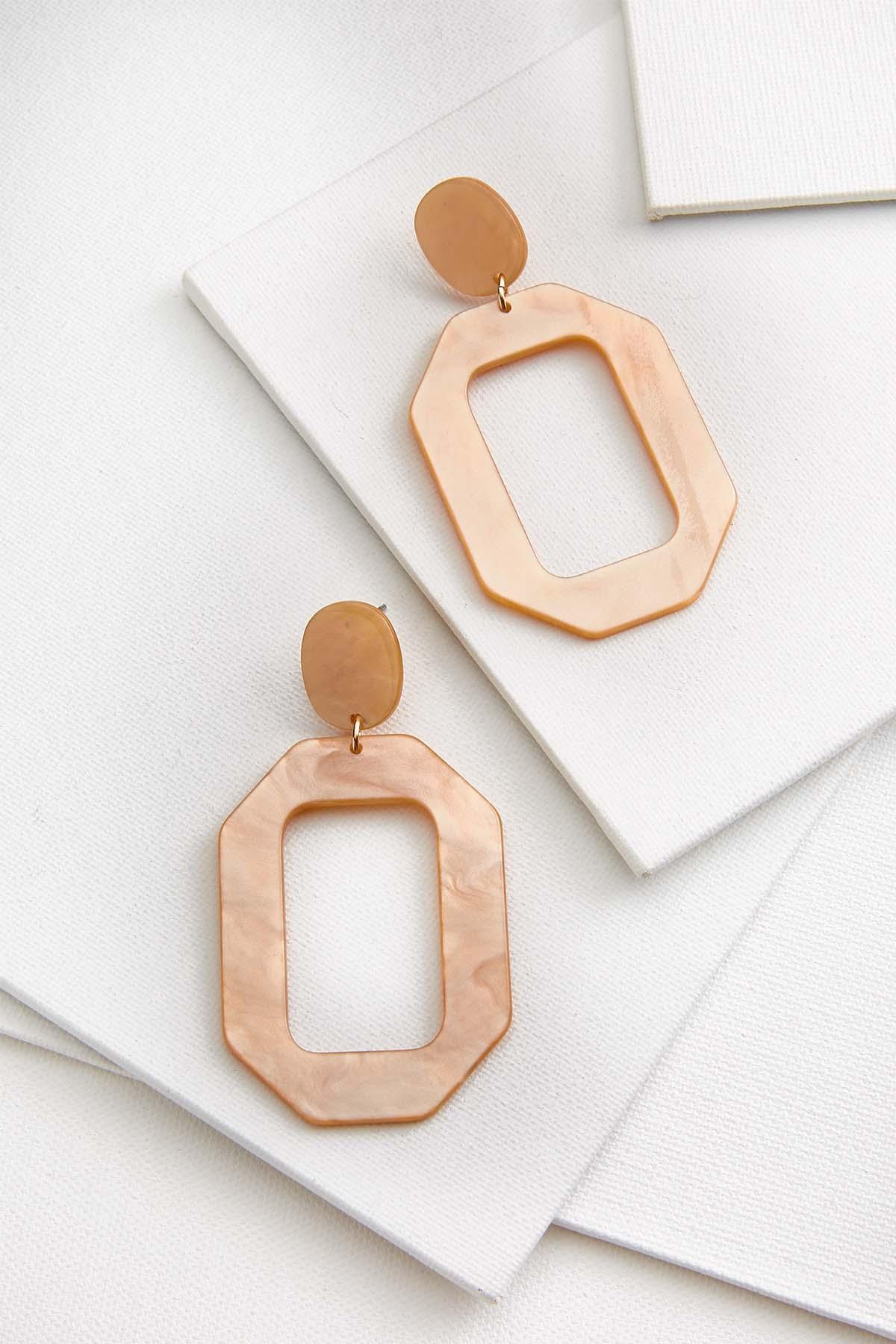 Neutral Lucite Earrings