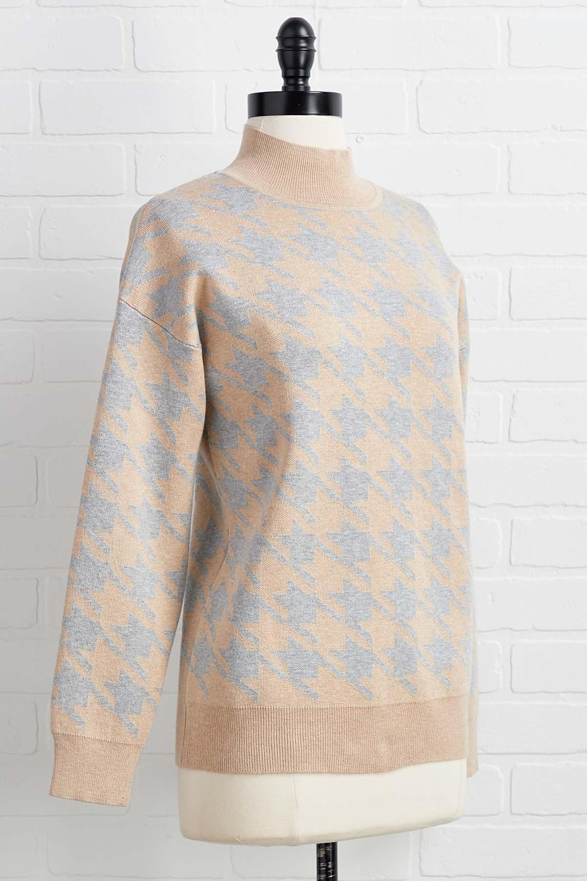 Hip Houndstooth Sweater