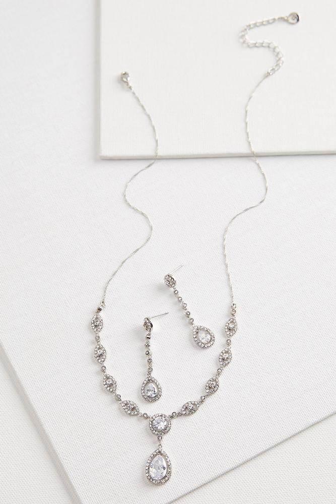 Tear Pendant Jewelry Set
