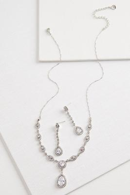 tear pendant jewelry set