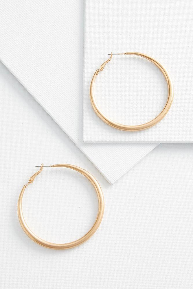 Metal Tube Hoop Earrings