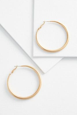 metal tube hoop earrings