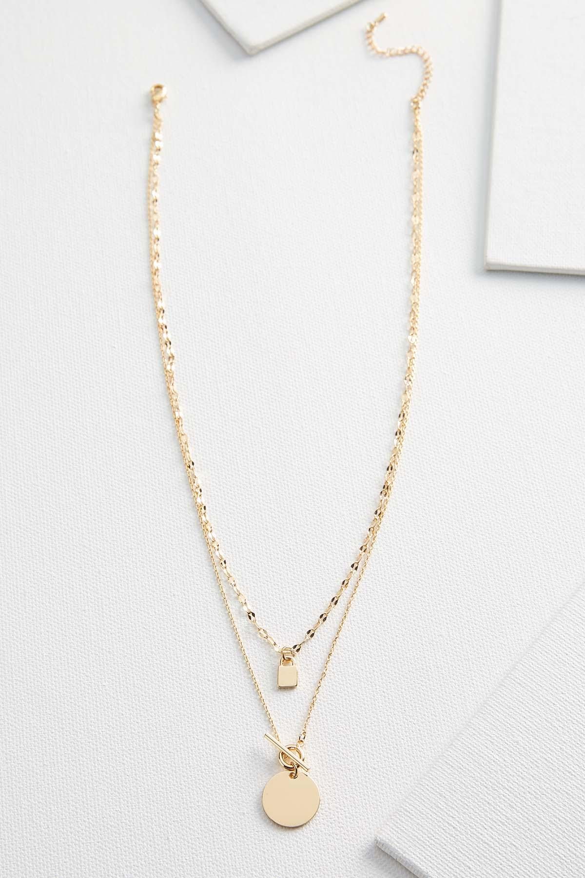 Dainty Lock Pendant Necklace