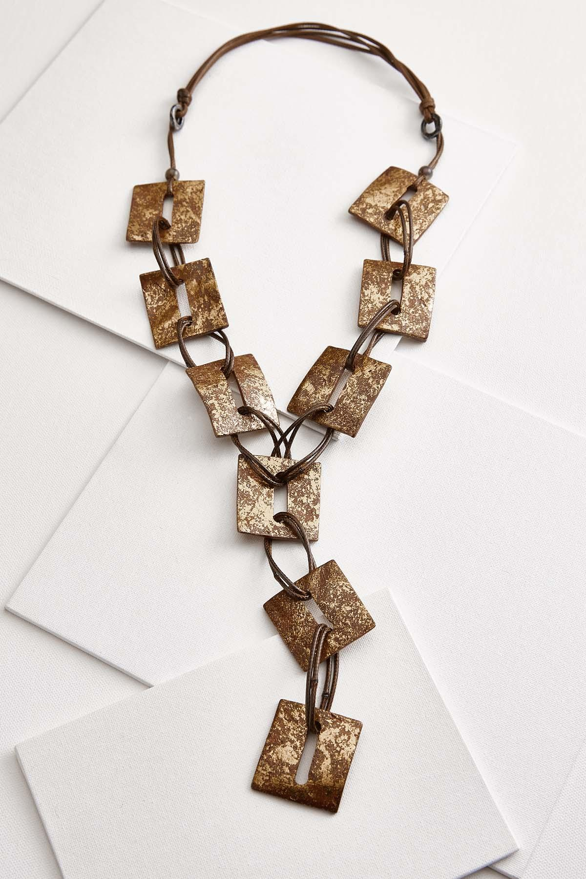 Foiled Square Necklace