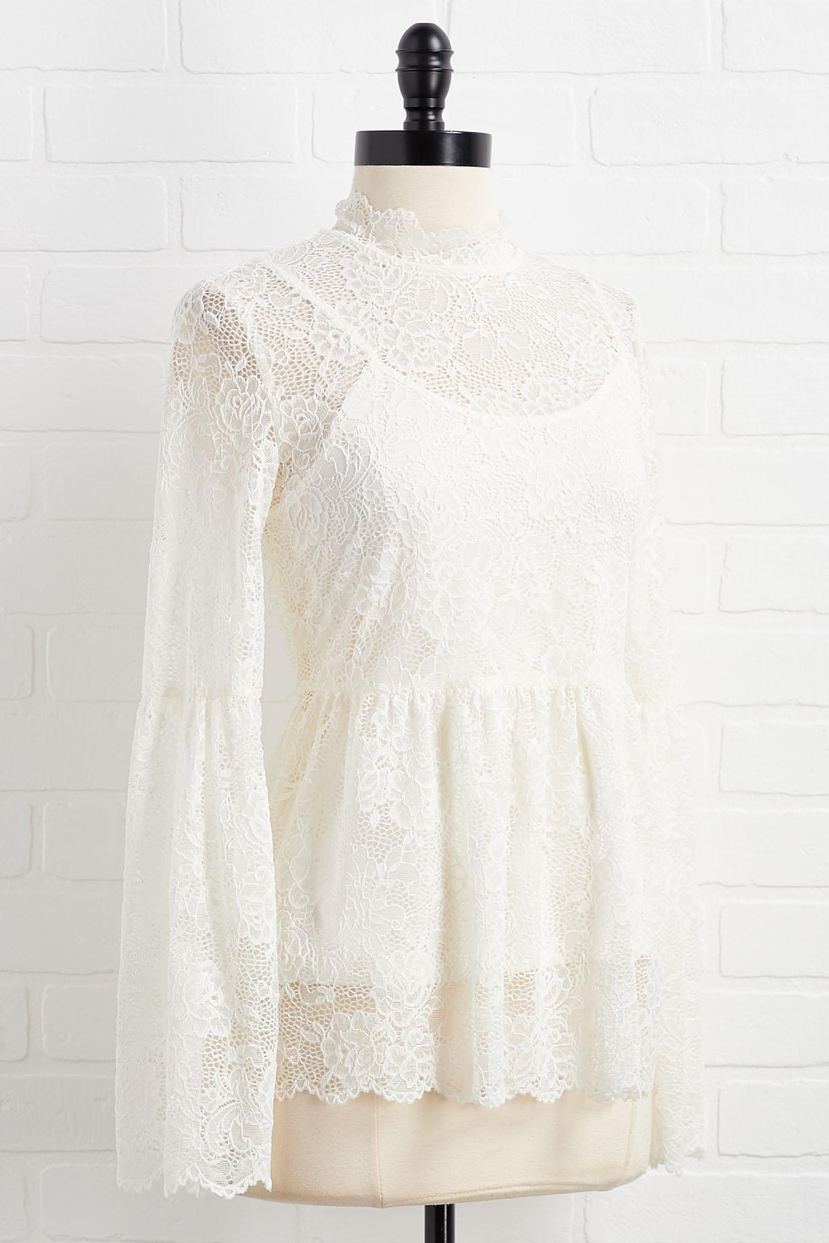 Lace To The Finish Line Top