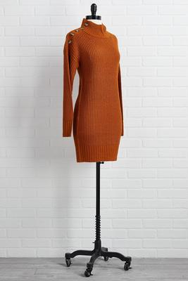 caramel latte sweater dress