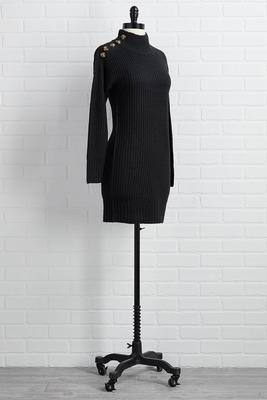 call knit even sweater dress