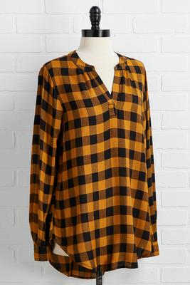 queen bee plaid top