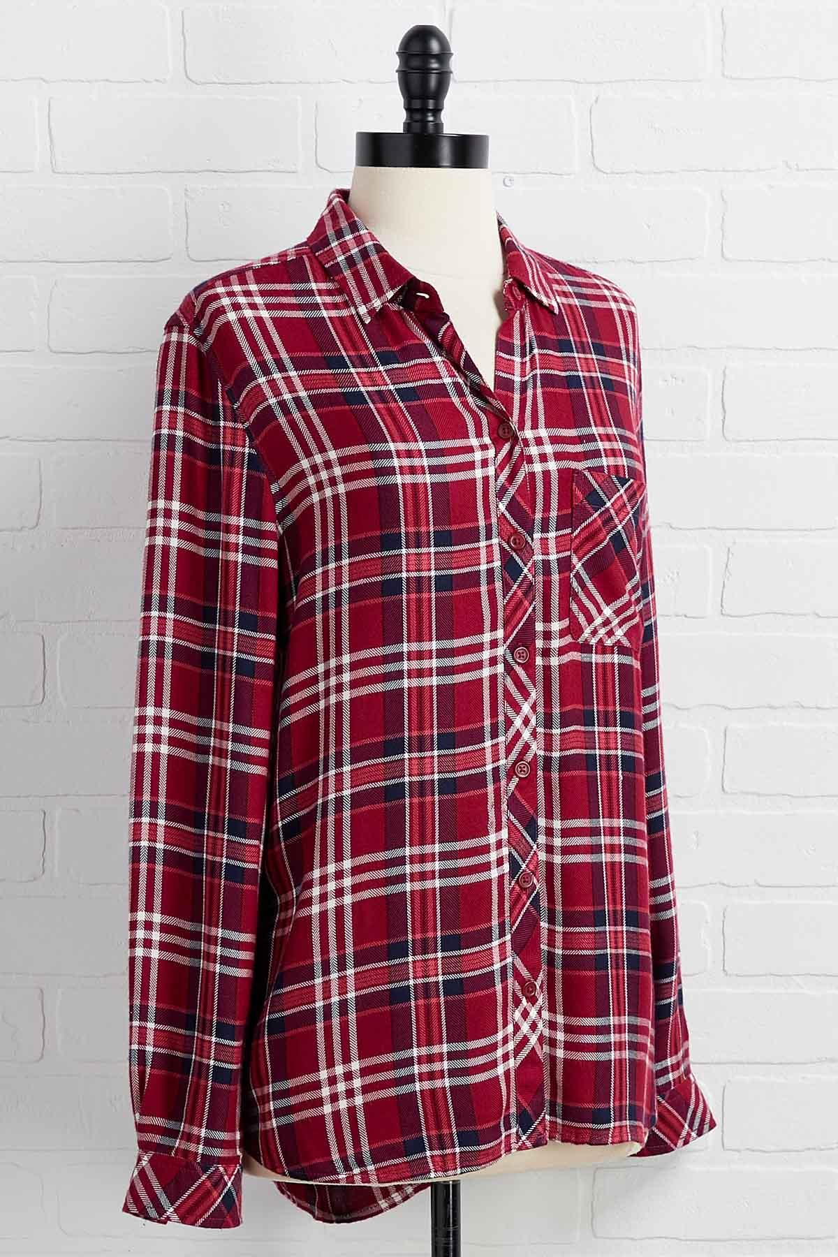 Peppermint Plaid Top