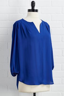 blue christmas top