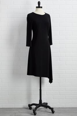 little black asymmetrical dress