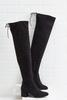 Allover Suede Over The Knee Boots