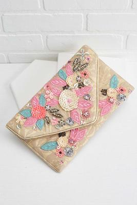 beaded blooms clutch