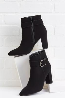 watch your step buckle booties