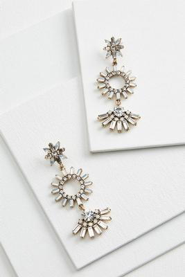 chandelier burst earrings