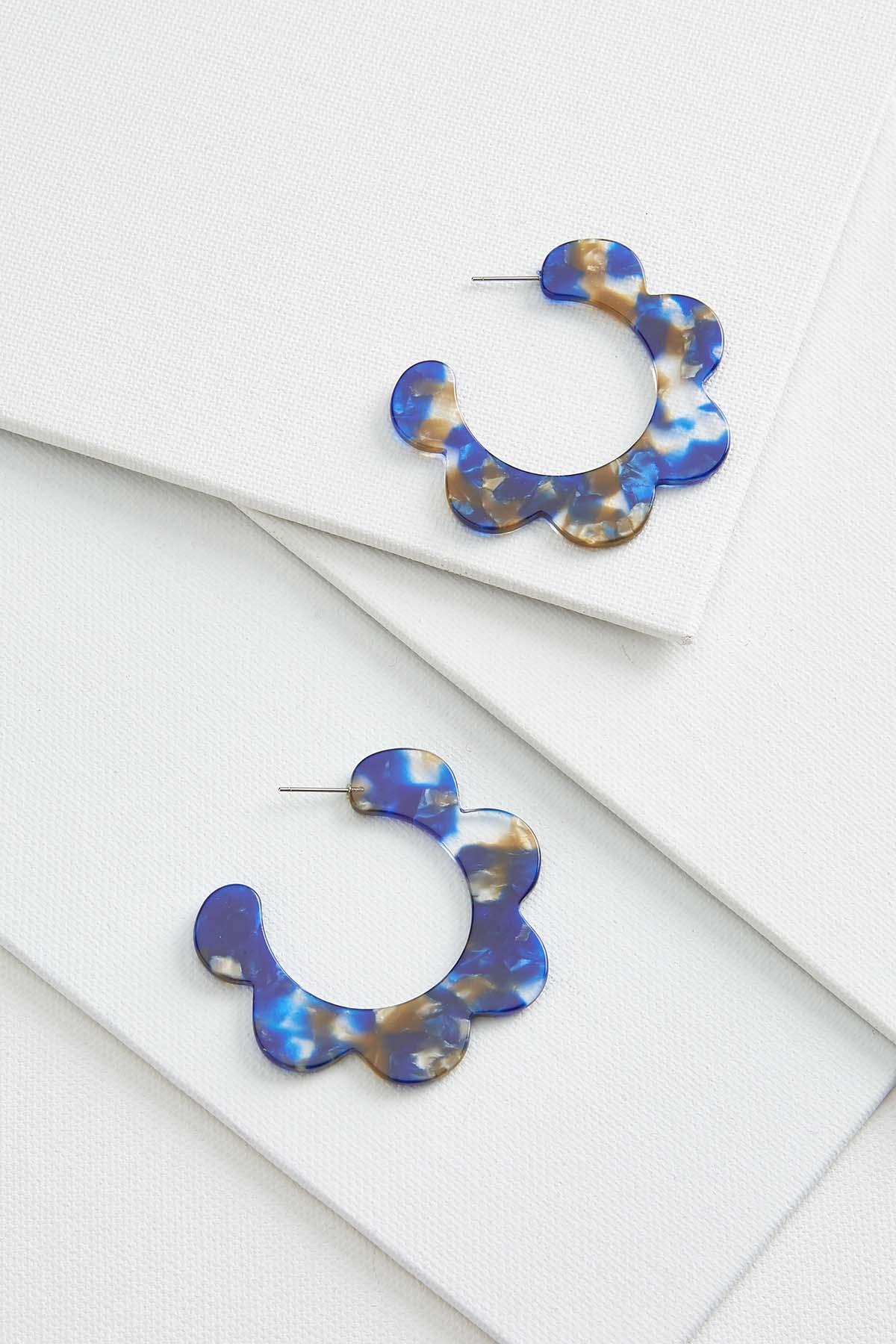 Lucite Wave Earrings