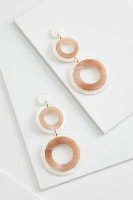 circular lucite earrings
