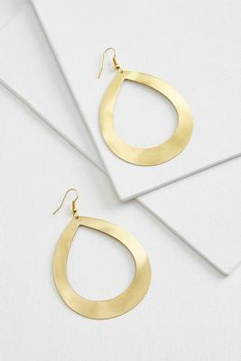open tear earrings