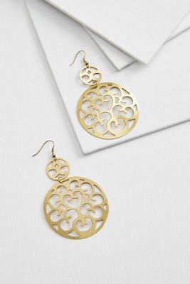 filigree disk earrings