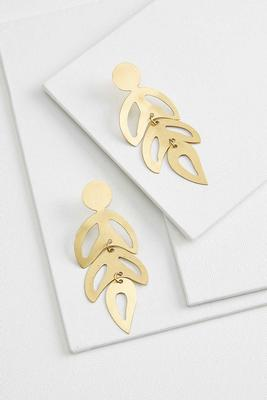 golden botanical earrings