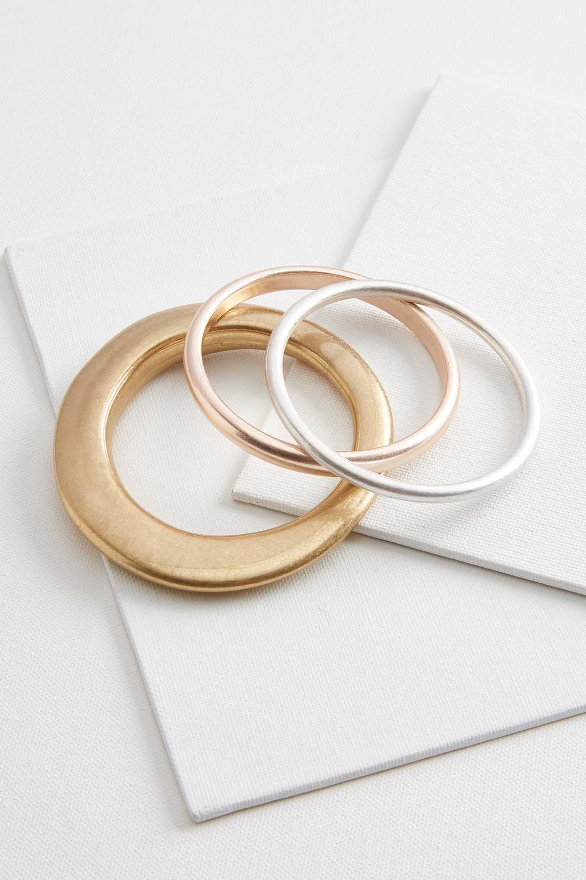 Mod Metal Bangle Set