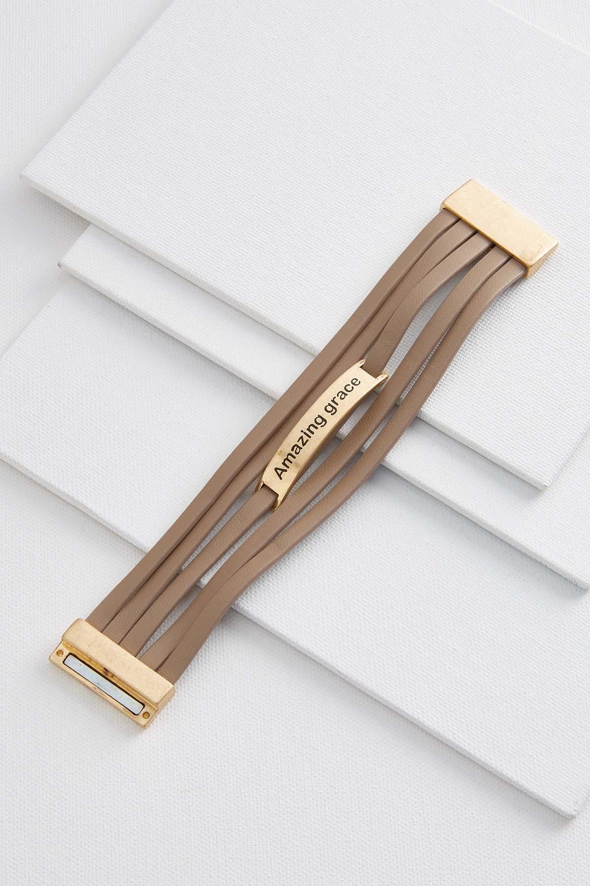 Amazing Grace Strappy Leather Bracelet