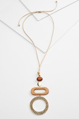 geo cord necklace