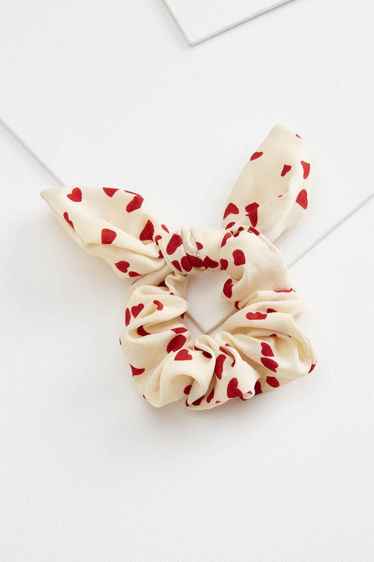 Heart Bow Scrunchie